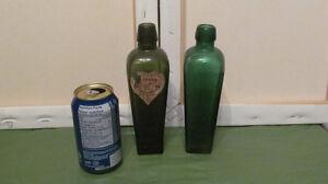 Lot de 2 vieilles bouteilles d'alcool - Gin
