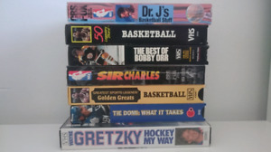 Collection of NBA NHL Basketball Hockey VHS Tapes Gretzky Orr
