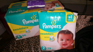 Pampers size one