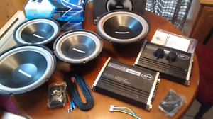 Brand new acroustic audio subs and amps