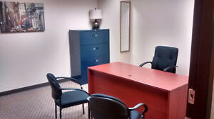 Furnished office: Includes internet, phone, reception