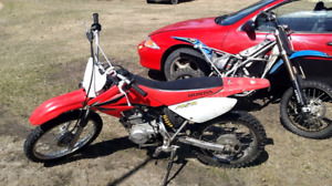 2002 5 speed cavilier, 2012 tm racing bike and 2008 crf100f
