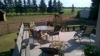 Nice country rooms close to Edmonton.