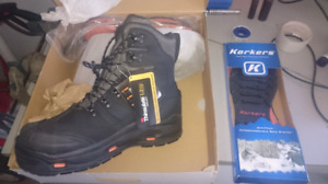 NEW Korkers Snowjack Pro size 12 CSA boots interchangeable soles