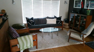 Vintage Danish Teak Sofa & Chair