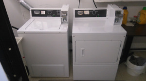 Maytag coin operated heavy duty washer and dryer