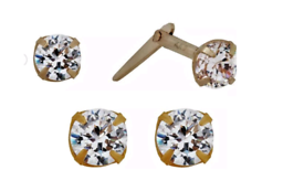 Andralok 9ct Gold Cubic Zirconia Earrings
