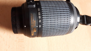 Nikon d3000 with 2 lenses, speed flash and case
