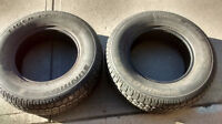 P205 / 75 R14 Uniroyal Tiger Paw Winter Tires Set of 2 On Rims 7