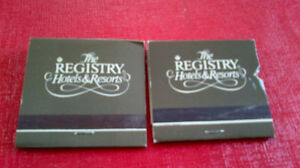 Matchbook Covers-The Registry Hotels & Resorts Kitchener / Waterloo Kitchener Area image 1