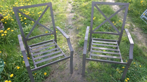 2 Chairs and 2 Tables Excellent Condition