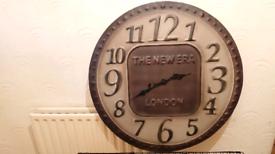 Very large metal wall clock / garden clock