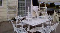 Beau set patio blanc acheté Trévi 10 morceaux  en aluminium