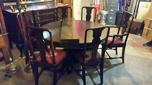 Antique dining room set with sideboard