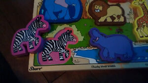 3 Wooden puzzles with a case Kitchener / Waterloo Kitchener Area image 4