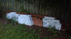 Bricks for sale, grey Quartz and red clay