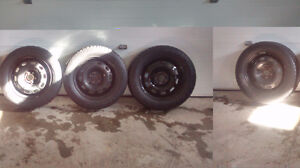4 winter tires on rims Cornwall Ontario image 1