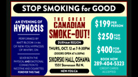 """Stop smoking for good"" Hypnosis event in Oshawa"