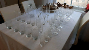 "bohemia crystal ""thistle"" set of glasses."