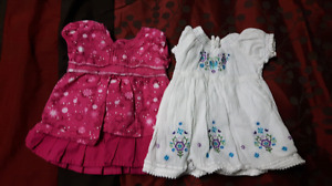 Girls 0-3 months dresses/outfits