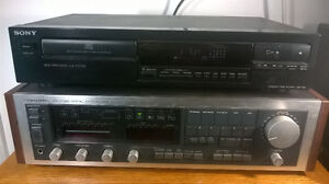 Vintage Stereo Receiver and CD Player