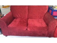 2 seater red sofa £150ono
