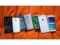Samsung HTC iphones sony lg