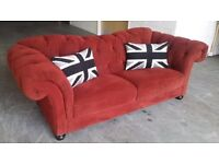 HUGE Chesterfield 3 Seater Sofa (maybe Laura Ashley or a similar brand).WE DELIVER