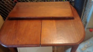 Antique table with leaf and 4 chairs
