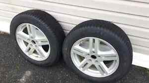 2 Michelin xice 215/60r/17 on 2008 dodge avenger rims Cornwall Ontario image 1