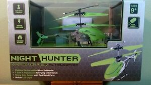 NIGHT HUNTER Glow In The Dark RC Micro Helicopter