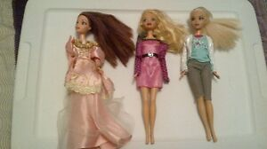 vintage my scene barbie dolls with accessories