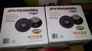"X2 Pyramid 8"" Subs Never Used"