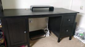 IKEA black Hemnes desk