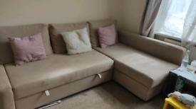 Beige Ikea sofa bed