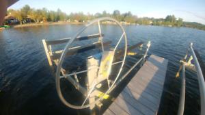 Elevateur bateau quai de l estrie 4000lbs