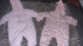 Snowsuits from 0 to 18th months
