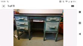 Distressed look Upcycled Vintage Desk