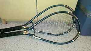 Two triple threat Prince rackets