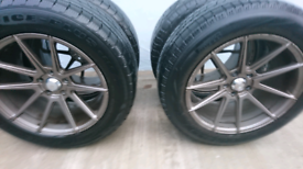 Alloy wheels 18 inch with winter tyres