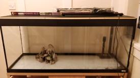 Fluval 240l Roma aquarium and cabinet