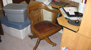 Antique Office Desk Chair located in Sarnia London Ontario image 1