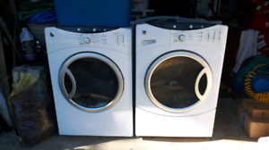 Ge washer for parts only /dryer works