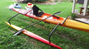 (SOLD)Outrigger (OC-Style) Kayak and Carbon Wing Paddle FOR SALE