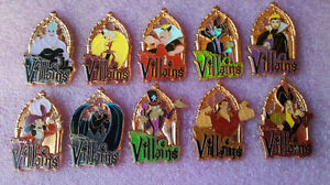 disney pin MNSSHP 2012 - Collection Mystère Villains pré-producT