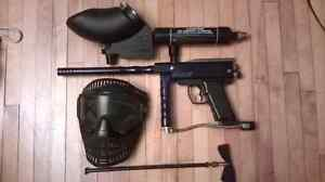 Complete paintball kit, electric marker and electric hopper
