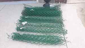 Metal green fence Chan link fencing 2ft - 8ft prices marked