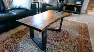 Huge Sale! Live Edge Dark Provincial Coffee Table