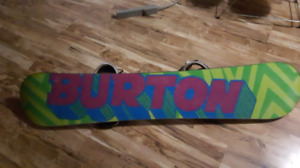 Burton Blunt snowboard with Forum bindings and Burton boots