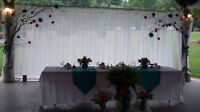 Teal/Burnt orange wedding decor